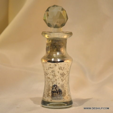 SILVER CUTTING PERFUME BOTTLE AND DECANTER,STYLISH PERFUME BOTTLE