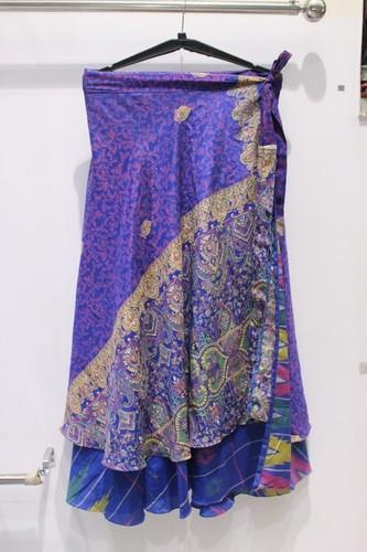 Silk Rapron Skirt