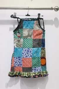 Strip Patchwork Girls Top