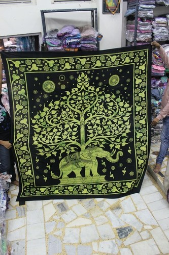 Elephant Wall Hanging Tapestry/ Double Bed Sheet