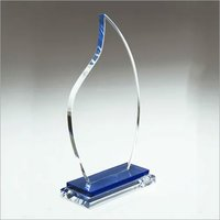 Blue Flame Crystal Trophy