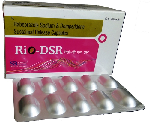 Rabeprazole Sodium 20mg+domperidone 30mg Sustained Released