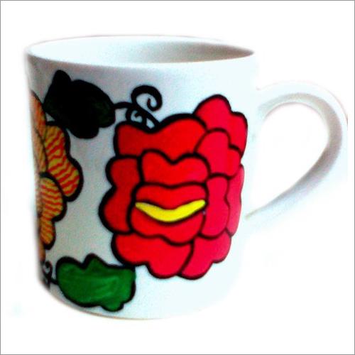 Coffee Mug With Madhubani Flower Painting