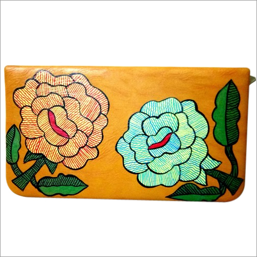 Madhubani Flower Painting Handbag