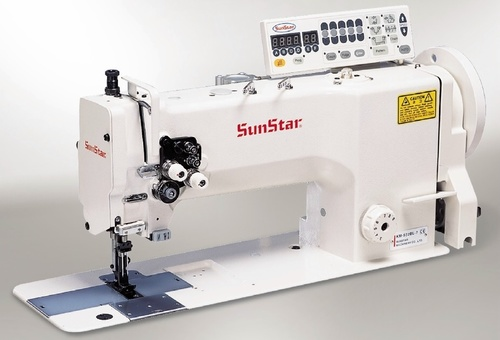1/2-Needles, unison feed, lock stitch sewing machine with horizontal large hook