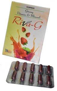Ginseng pills vitamins minerals capsules