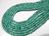 Blue Opal Rondelle Faceted Beads