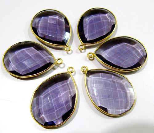 Amethyst Pear Shape Connector
