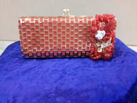 Designer Red Clutch