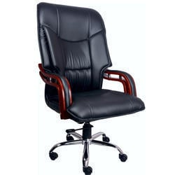 Royal Black Wooden High Back Chair