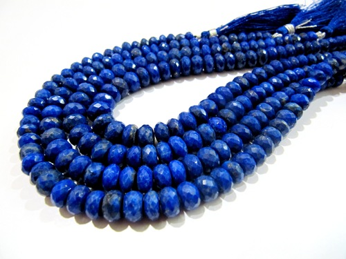 Natural Lapis Lazuli Micro Faceted Beads