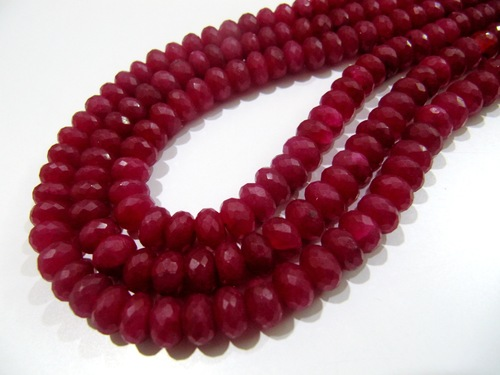 AAA Quality Dyed Ruby Beads