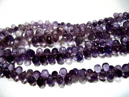 Pink Amethyst Drop Shape Beads