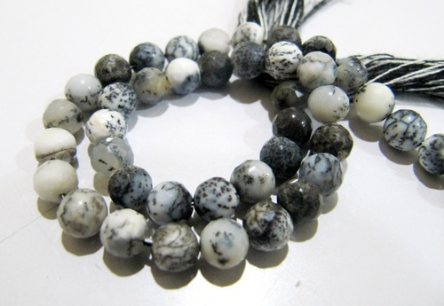 AAA Quality Natural Dendrite Opal Beads