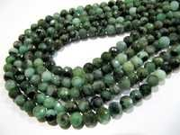 Genuine Emerald Rondelle Faceted Beads
