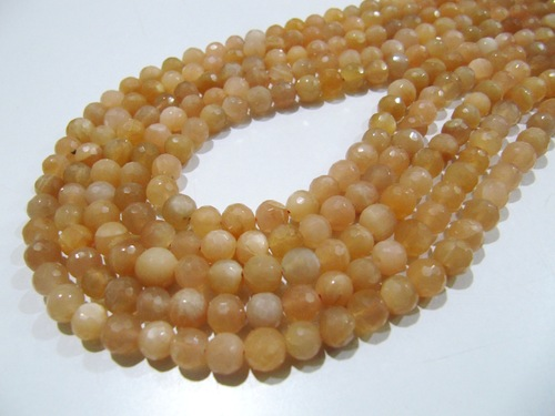 AAA Quality Natural Peach Moonstone Beads