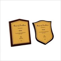 Wooden Shield Plaque