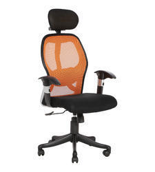 Orange And Black Executive Mesh Chair (Groma Hb)