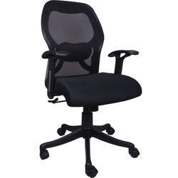 Calvo Mesh Medium Back Black Chair