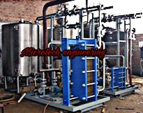 STEAM CONTROL VALVE OPERATED HOT WATER SYSTEM