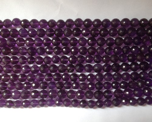 Amethyst Faceted Round