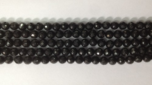 Black Spinel Faceted Round