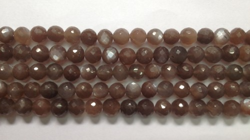 Chocolate Moonstone Faceted Round