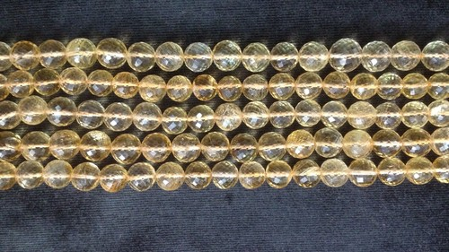 Citrine Faceted Round