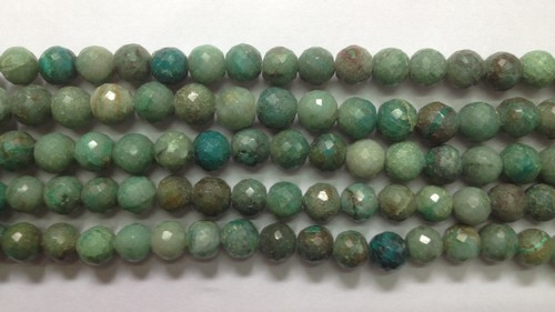 Chrysocolla Faceted Round