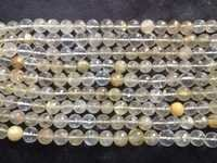 Golden Rutiled Faceted Round