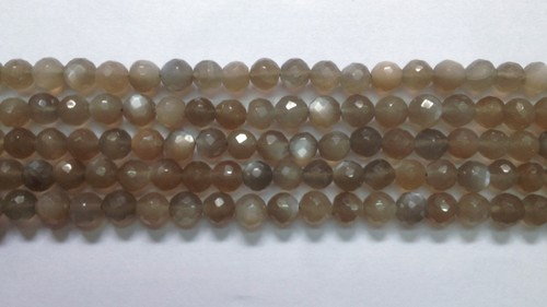 Grey Moonstone Round Faceted