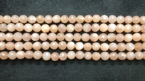 Peach Moonstone Round Faceted
