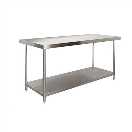 Ss Restaurant Hotel Commercial Catering Equipment Two Layer Ss Kitchen Work Table