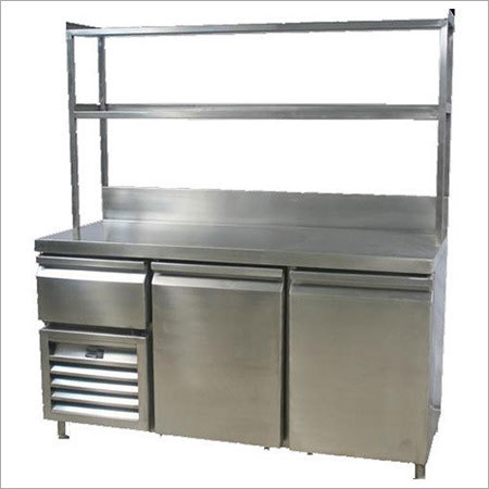Ss Service Counte  With Refrigerator
