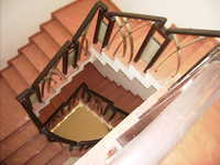 SS Staircase Handrailings with Wooden