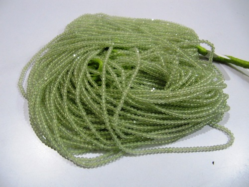 Peridot Round Faceted Beads