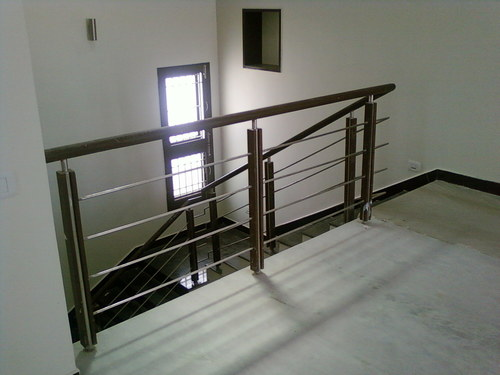 wooden Staircase SS Handrail