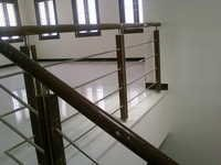 Wooden with Staircase SS Railings