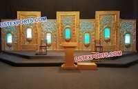 Beautiful Golden Jharokha Backdrop Frames
