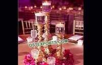 Elegant Metal Candle Holder Centerpieces