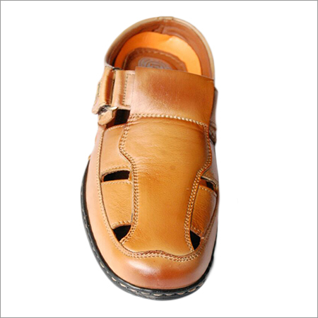Mens Casual Leather Roman Sandal