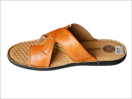 Mens Fancy Leather Slipper