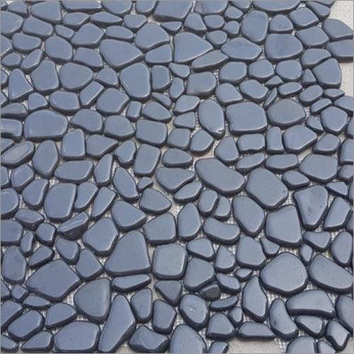 Black Interlock Tile (Polished)