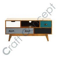 4 DRAWER SOLID MANGO WOOD TV CABINET
