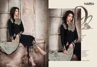 GEORGETTE SUITS WITH NAZMIN CHIFFON DUPATTA NAIRRA BLACK