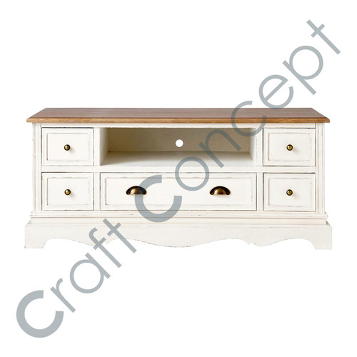 CREAM WOODEN  TV CABINET