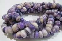 Natural Peruvian Purple Opal Rondelle Plain Beads