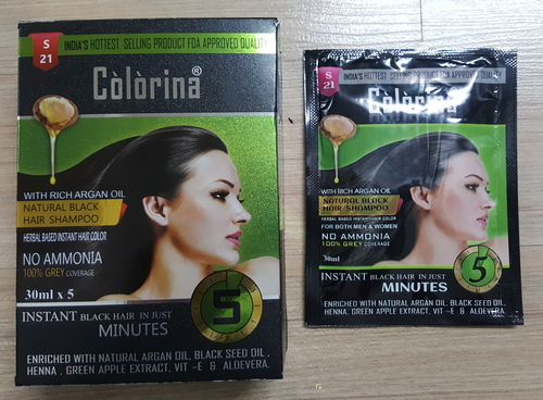Colorina Black Hair Shampoo 30 Ml