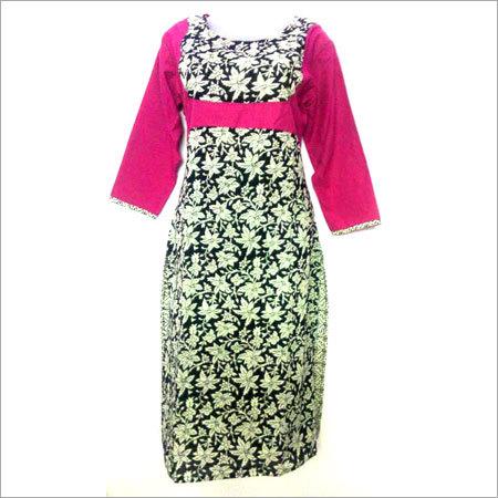 Ladies Designer Print Cotton Kurti