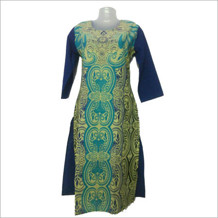 Ladies Digital Print Cotton Kurti